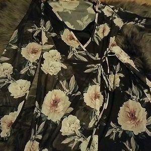 Charlotte Russe wrap maxi dress